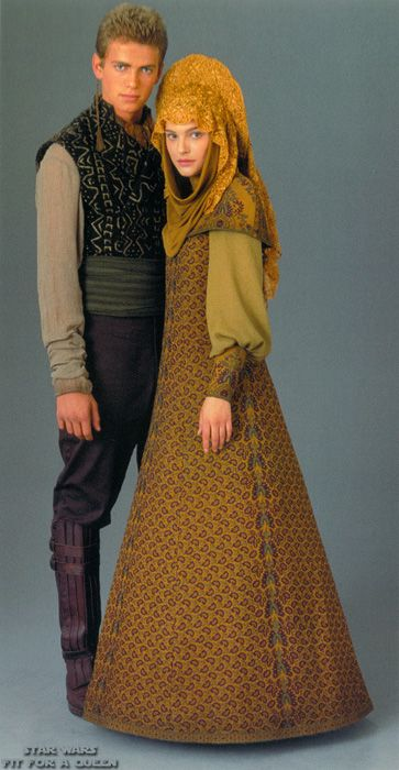 Anakin and Padme disguised as refugees, Ep. II