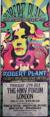 Robert Plant to Premier New Band, the Sensational Space Shifters, Tomorrow Night, Set London & U.S. Dates