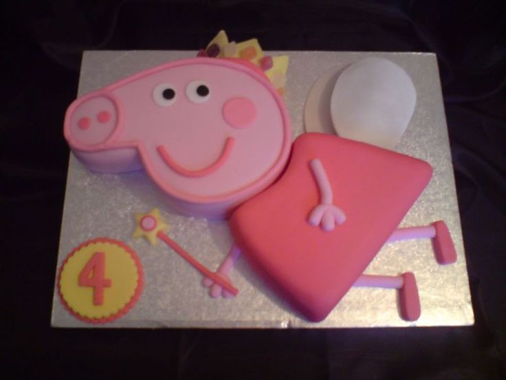 111 best peppa pig cakes images on pinterest for Peppa pig cake template free