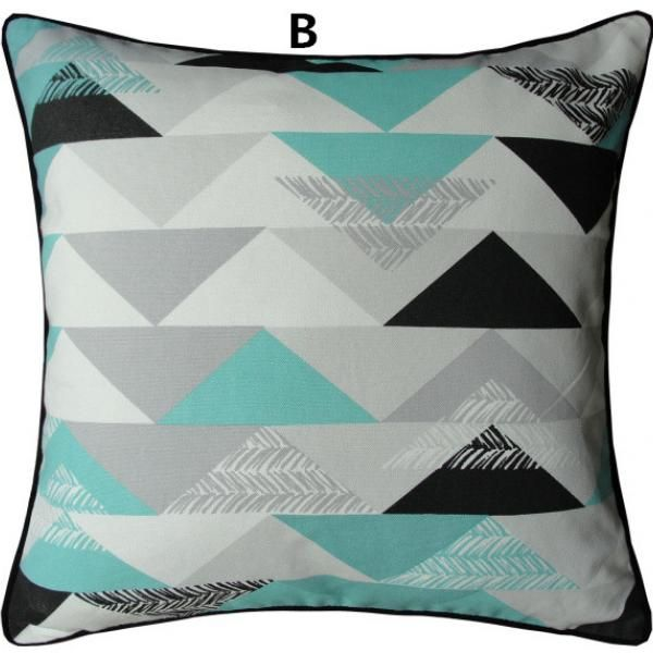 Europe geometric abstract contemporary decorative pillows for couch cotton printing large sofa cushions