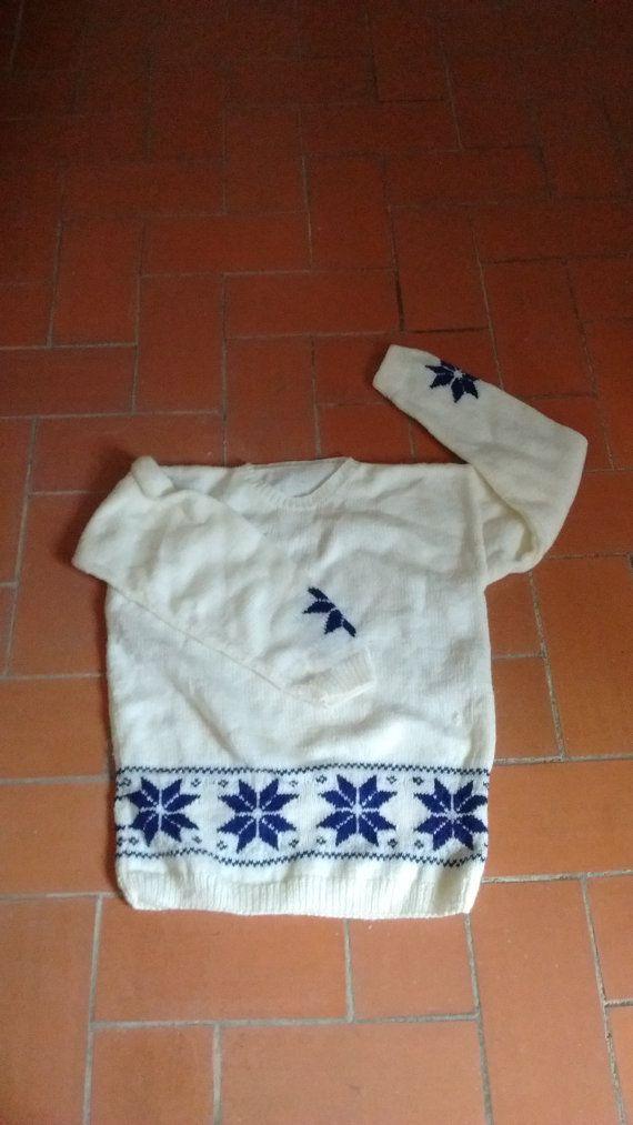 Hecho a mano suéter nórdico