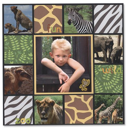 zoo- simple scrapbook page