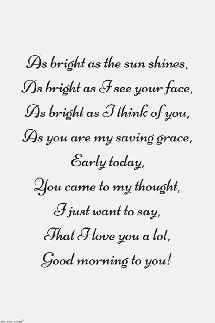 Romantic Good Morning Poems For Her [ Best Collection ]  Love