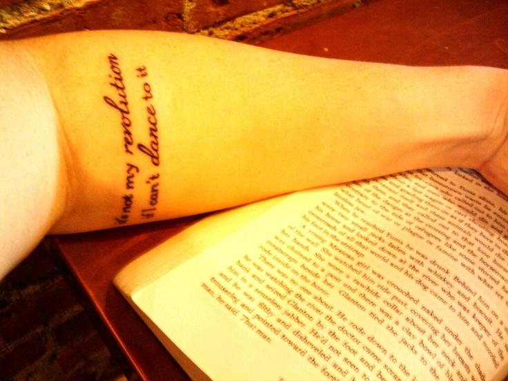 Dance quote tattoo