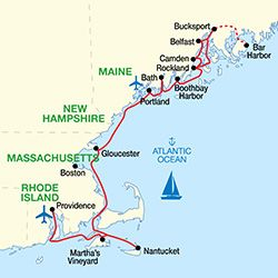 Grand New England Cruise Map