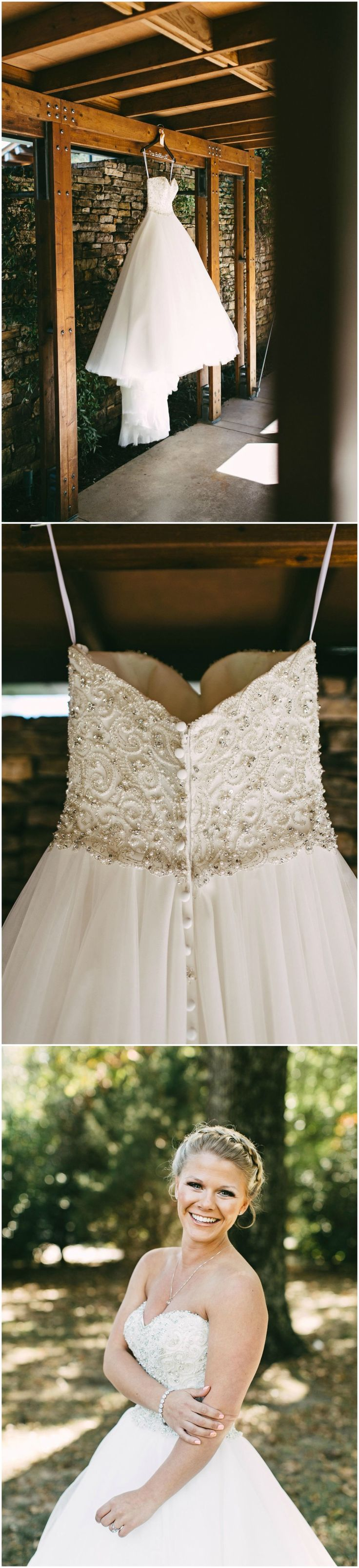 Strapless wedding gown, beaded bodice, dress fit for a princess // Kelly Ginn Photography