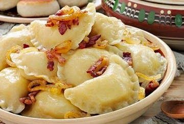 Тайны хорошей кухни.Рецепты: Вареники гуцульские #вареники #кулинария #рецепты #украинская_кухня #гуцульские #грибы #сало