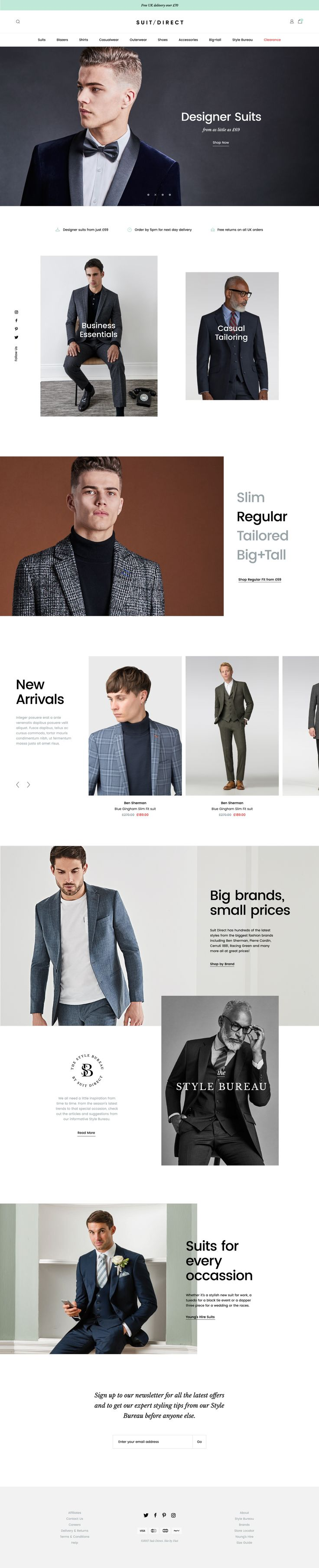 Suit Direct Website by Jordan Gilroy | dribbble
