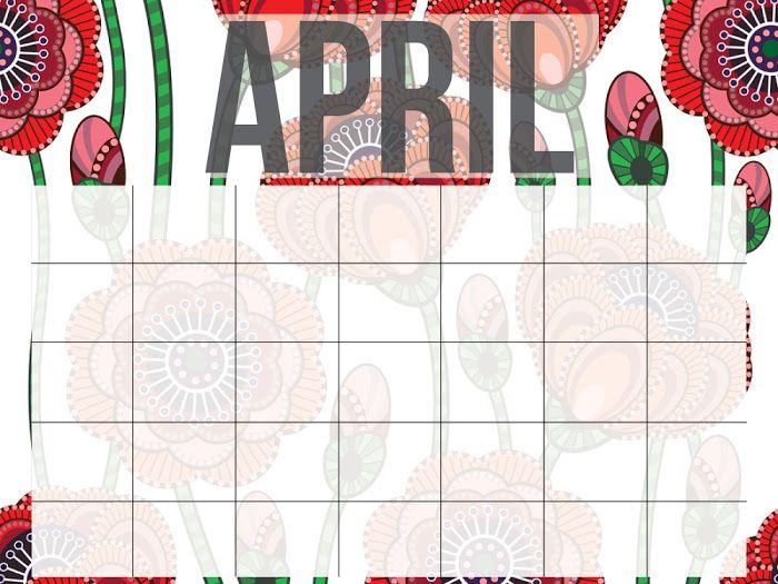 Printable Calendar by Smart School House - Google Drive