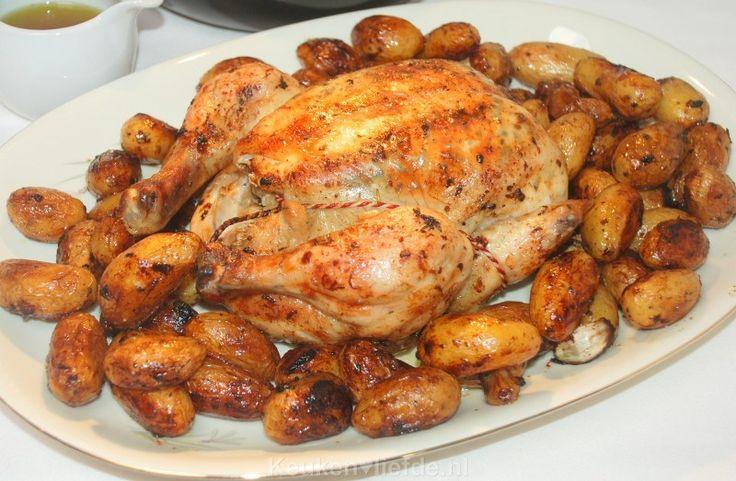 hele kip uit de oven met krietjes