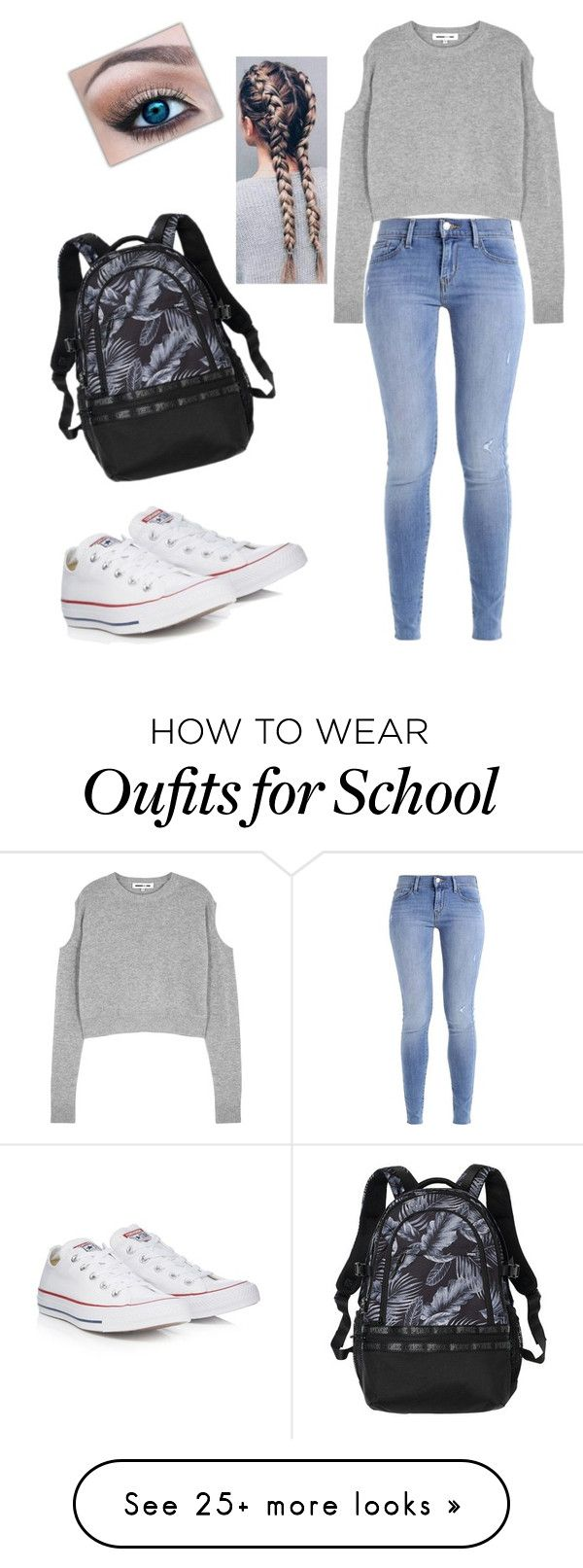 """""""Easy Going School Day """" by arianasmith5672 on Polyvore featuring McQ by Alexander McQueen and Converse"""