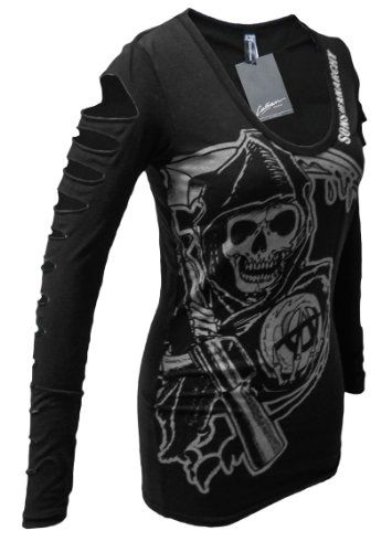 Sons of Anarchy Reaper Lazer-cut Long Sleeved Women's Cover-up (X-Large) Sons of Anarchy,http://www.amazon.com/dp/B00EJVDQ3Y/ref=cm_sw_r_pi_dp_C5nksb0V5MQM7XMT