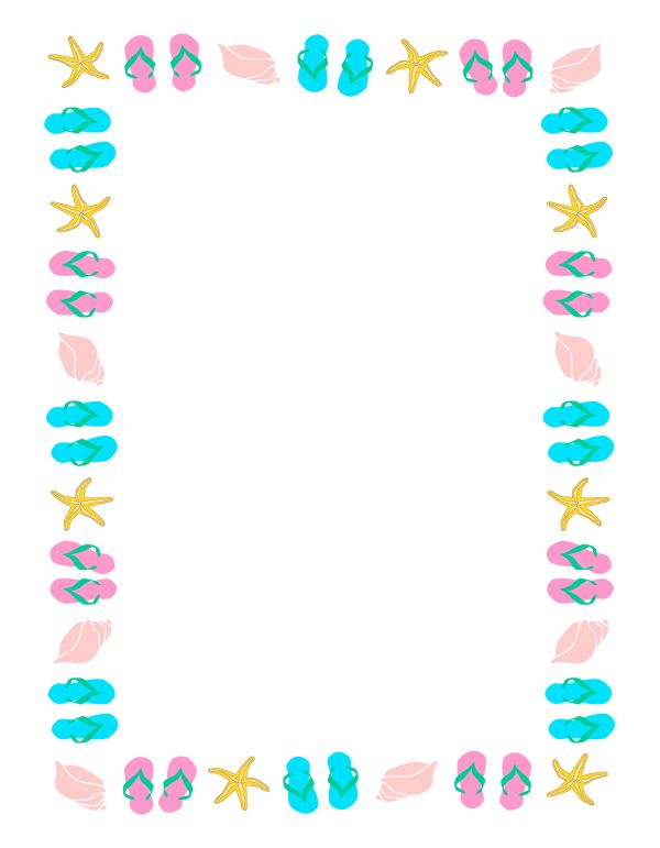 Summer page border clipart clipart panda free clipart for Pool bordure