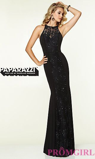 Long Jersey High Neck Dress by Mori Lee  at PromGirl.com