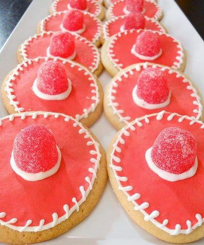 JBigg's Little Pieces: A Mexican Fiesta Party - Sombrero sugar cookies