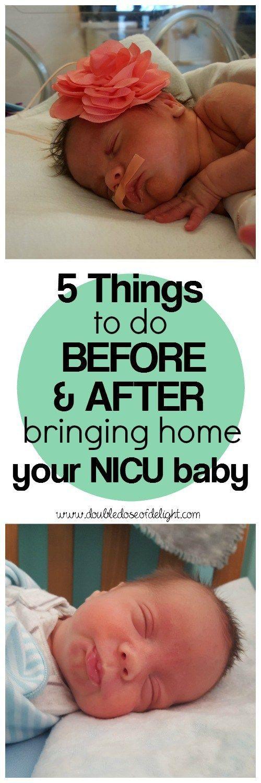 5 Things to do BEFORE and AFTER Bringing Home your NICU Baby. Tips from a seasoned NICU mom. #NICU #bringinghomebaby #newborn #preemie #parenthood #NICUgrad #NICUmom