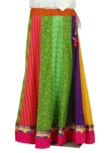Multicolour Blockprinted Skirt Design 3 – Desically Ethnic