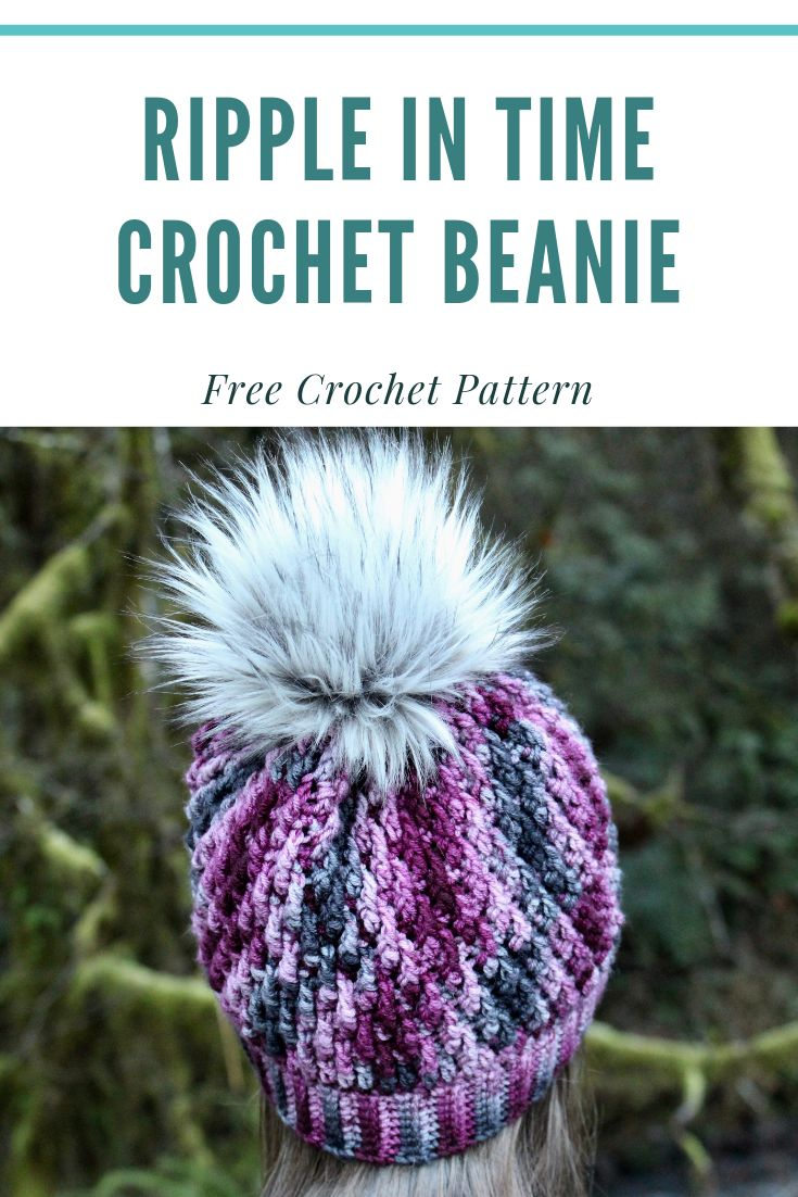 Free Crochet Beanie Pattern, Fitted and Slouchy Adult Beanie Pattern, Free Crochet Hat Pattern,