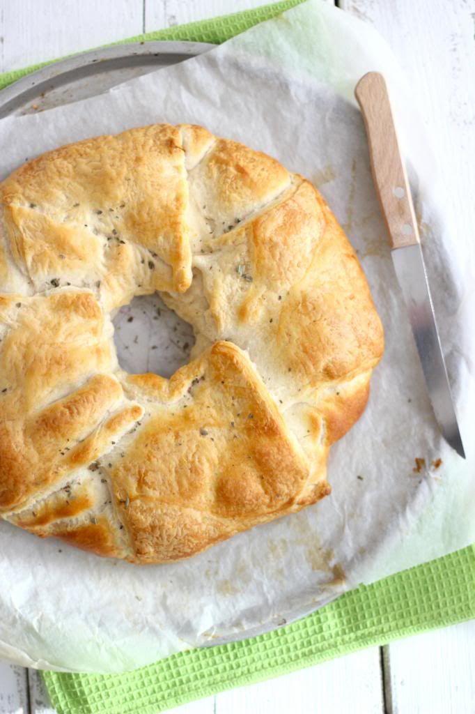 Croissantrol met Kip, Paprika en Prei