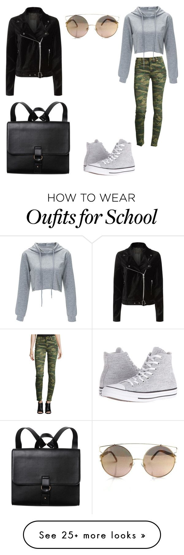 """School"" by mary-war on Polyvore featuring True Religion, Paige Denim, Converse … – Klamotten"