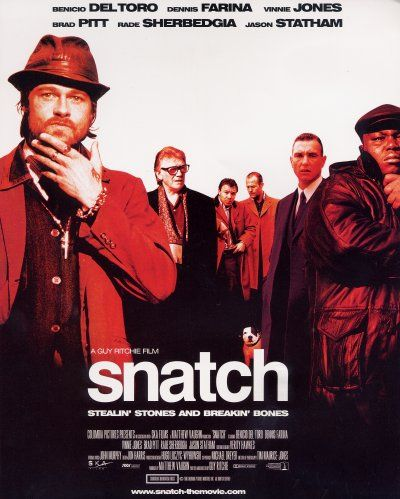 """""""A dangerous debt and a priceless diamond bring together con men, hit men, gypsys and mobsters from around the world in this comic crime thriller by Lock, Stock and Two Smoking Barrels director Guy Ritchie.""""  Request it at http://eisenhowerlibrary.org/ or by calling the Answers Desk at 708.867.2299"""