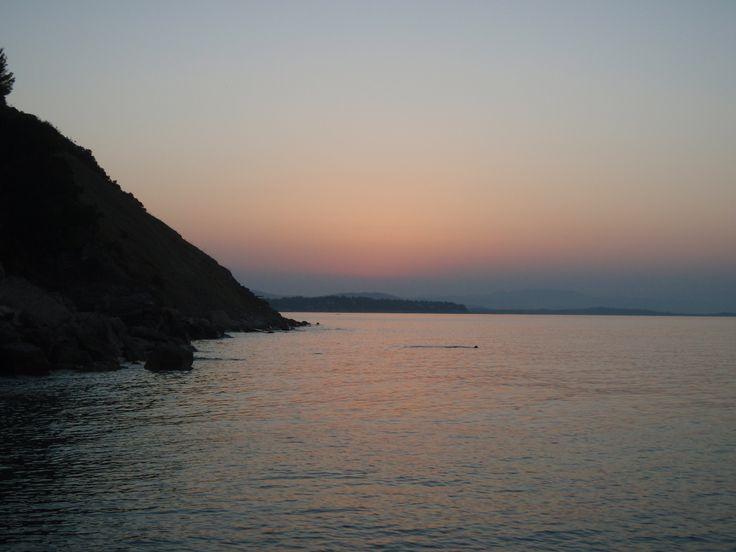 Sithonia, Halkidiki - Sunset from Lacara Camping..