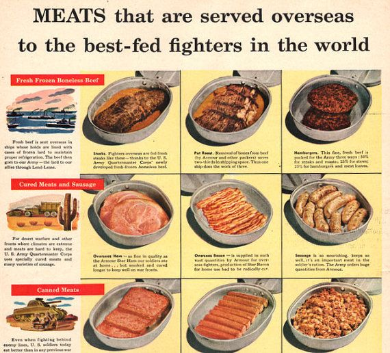 what meals did they eat in ww2