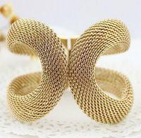 Brazaletes de puño de alta calidad de aleación de Color oro amplia pulseras brazaletes envío gratis de mujer moda joyería de traje de moda