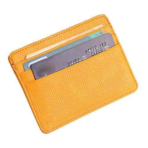 Goosun Unisex Flaches Kleines Kreditkartenetui Mode Eidechse
