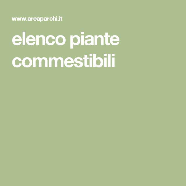 elenco piante commestibili