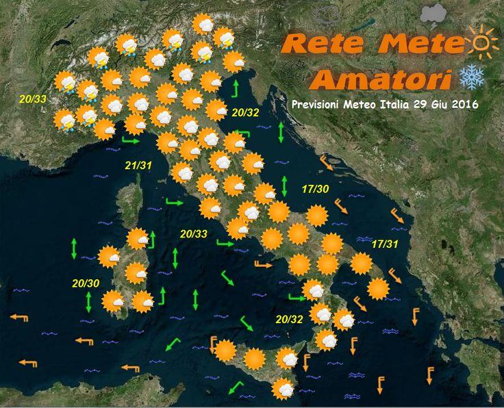 Previsioni Meteo Italia 29-6-2016