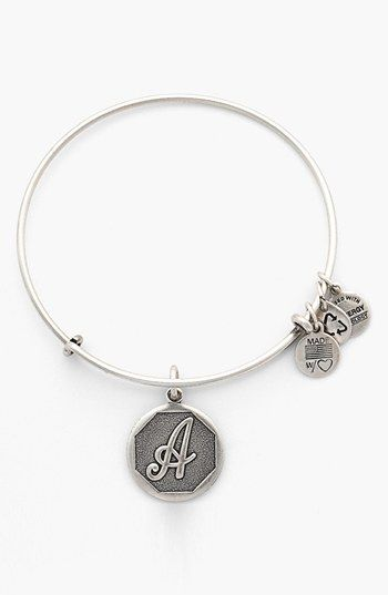 Alex and Ani 'Initial' Adjustable Wire Bangle | Nordstrom: Ani Initials, Alex And Ani, Silver Bangles, Adjustable Wire, Ani Bangles, Wire Bangles, Alex O'Loughlin, Ani Addiction, Years Jewelry