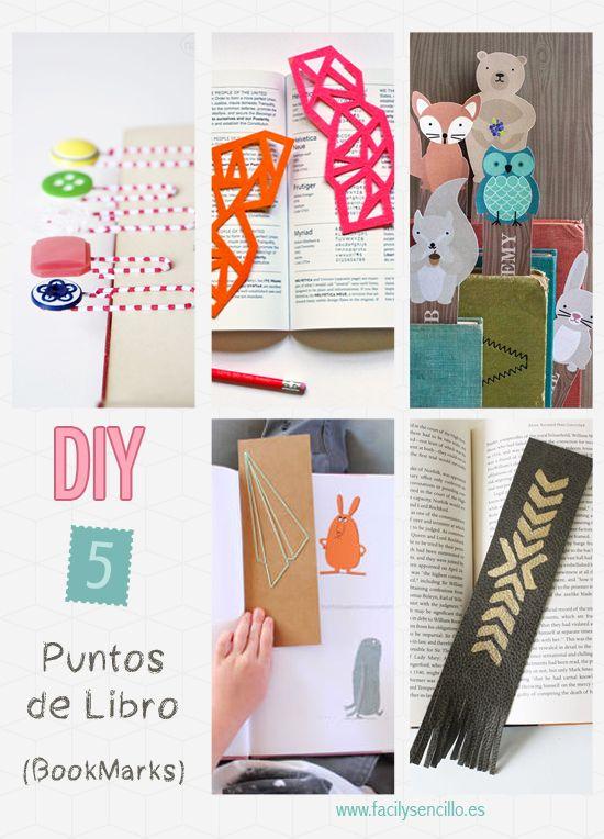 DIY – 5 Puntos de Libro Originales