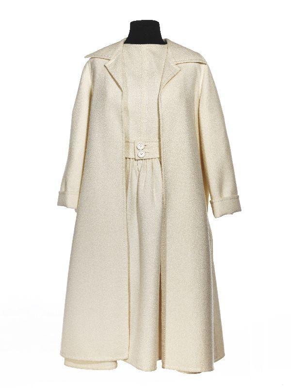 Ensemble: dress, jacket and belt, Frans Molenaar, 1968-1970, wool, synthetic materials and metal, Gemeentemuseum Den Haag.