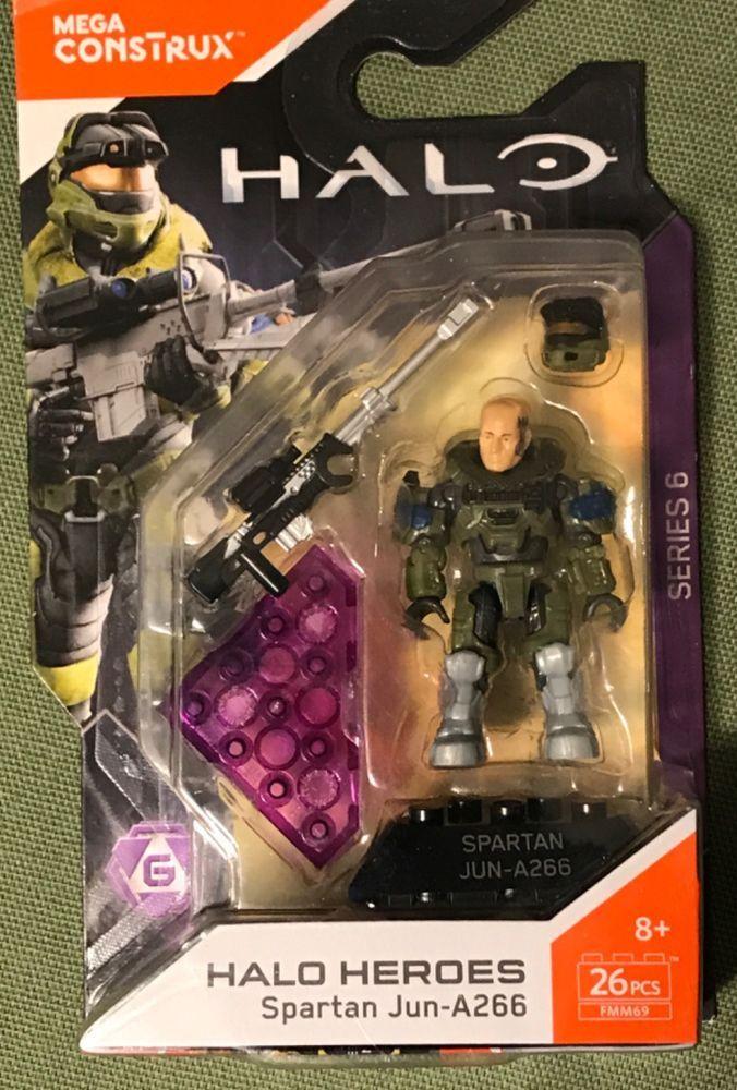 Mega Construx Halo Heroes Series 6 Spartan Jun-A266 NEW 26 Pieces