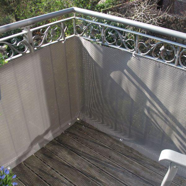 Polyrattan Balkonverkleidung Sichtschutz Balkonsichtschutz Meterware Balkon