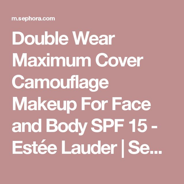 how to apply estee lauder double wear maximum cover foundation