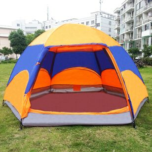 Find More Tents Information about Wholesale Outdoor Tent Bouble Hexagonal Ground Nail 5 8 Person Tent For Camping,Size 240*240*145cm,ZYD099,High Quality tente,China tent banner Suppliers, Cheap tent logo from BranKid on Aliexpress.com