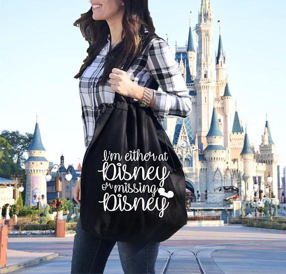 Disneyland bag Disney inspired tote At Disney or missing Disney Disneyworld bag