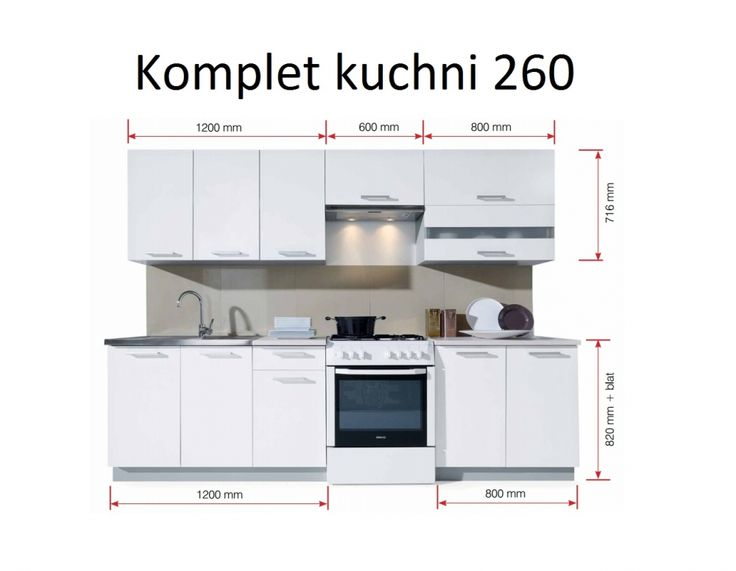 Klasyczny komplet mebli kuchennych MELOS - CENA: 2.399,99 zł