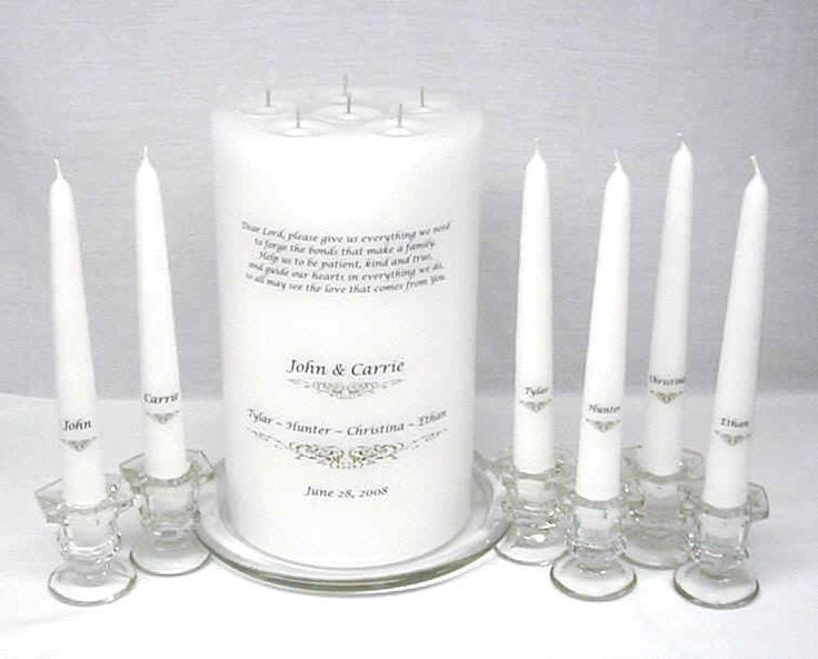 Group Unity Candle For Joining Families And Others Scroll