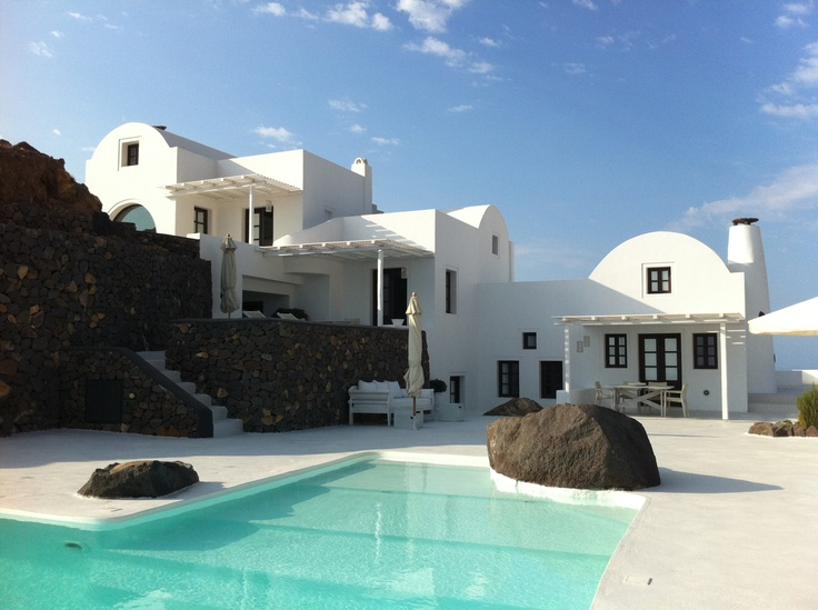 Aenaon Villas - Imerovigli - The architectural concept