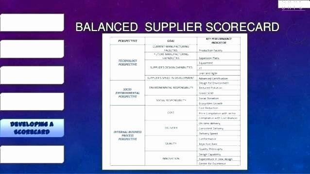 Supplier Performance Scorecard Template Xls New Vendor Evaluation