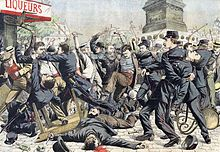 Le Petit Journal: Apaches battle French Police 14 August 1904