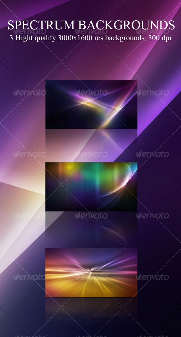 Spectrum Abstract Backgrounds