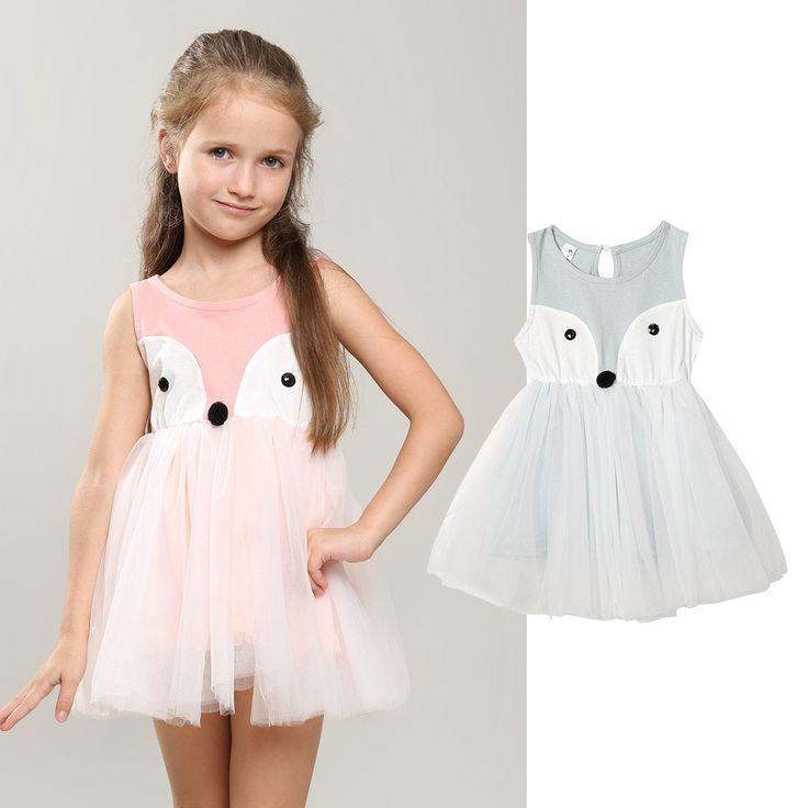 Kinder-Kleid im Fuchs-Design