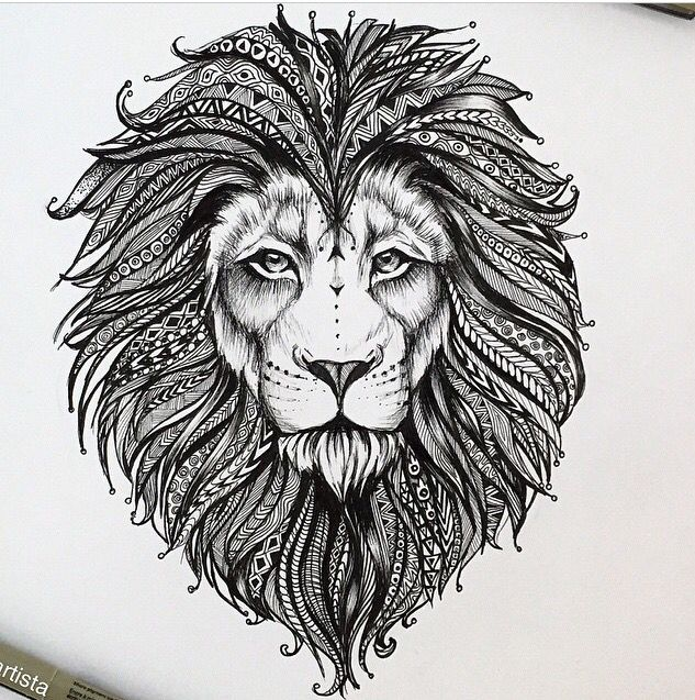 best 25 tribal lion tattoo ideas on pinterest. Black Bedroom Furniture Sets. Home Design Ideas