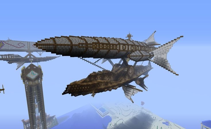 airship world minecraft | Minecraft Steampunk Airship by CW390 on deviantART