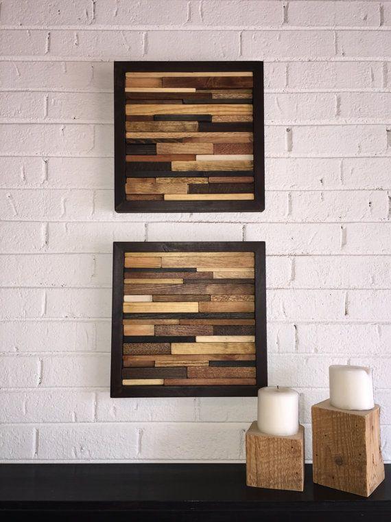 Wood Wall Art  Reclaimed Wood Art  Modern by DanburyDesign on Etsy