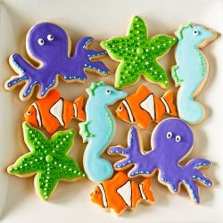 Under the Sea Sugar Cookies - created for a Nemo-themed kids birthday party
